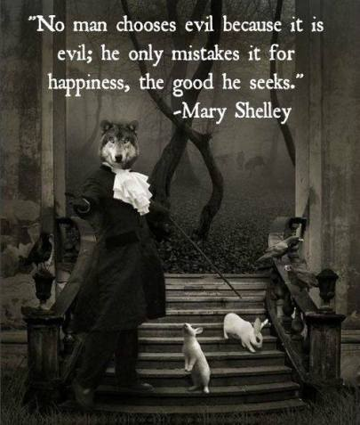Mary Shelley on Evil